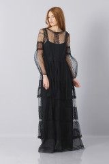Drexcode - Silk dress with lace inserts and transparencies - Alberta Ferretti - Rent - 4