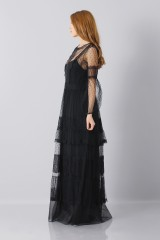 Drexcode - Silk dress with lace inserts and transparencies - Alberta Ferretti - Rent - 8