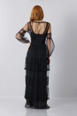Drexcode - Silk dress with lace inserts and transparencies - Alberta Ferretti - Rent - 7