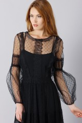 Drexcode - Silk dress with lace inserts and transparencies - Alberta Ferretti - Rent - 10