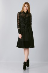 Drexcode - Lace dress with sleeves - Rochas - Sale - 4