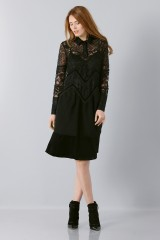 Drexcode - Lace dress with sleeves - Rochas - Sale - 3