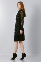 Drexcode - Lace dress with sleeves - Rochas - Sale - 5