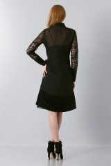 Drexcode - Lace dress with sleeves - Rochas - Sale - 2