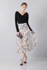 Drexcode - Longuette skirt patterned with swallows - Rochas - Sale - 1
