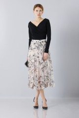 Drexcode - Longuette skirt patterned with swallows - Rochas - Sale - 2