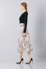 Drexcode - Longuette skirt patterned with swallows - Rochas - Sale - 3