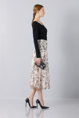 Drexcode - Longuette skirt patterned with swallows - Rochas - Sale - 4