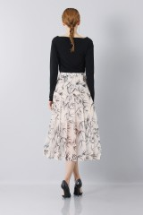 Drexcode - Longuette skirt patterned with swallows - Rochas - Sale - 5