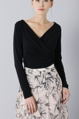 Drexcode - Longuette skirt patterned with swallows - Rochas - Sale - 6