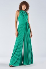 Drexcode - Jumpsuit with pleated leg - Halston Heritage - Rent - 2