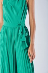 Drexcode - Jumpsuit with pleated leg - Halston Heritage - Rent - 4