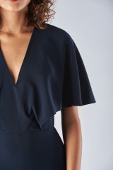 Drexcode - Jumpsuit with short sleeves and V-neck - Halston - Rent - 3