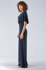 Drexcode - Jumpsuit with short sleeves and V-neck - Halston - Rent - 4