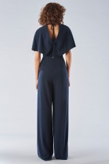 Drexcode - Jumpsuit with short sleeves and V-neck - Halston - Rent - 5