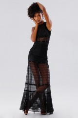 Drexcode - Black lace dress with studs and transparencies - Kathy Heyndels - Rent - 1