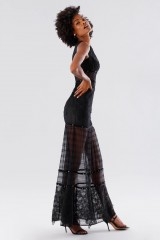 Drexcode - Black lace dress with studs and transparencies - Kathy Heyndels - Rent - 2