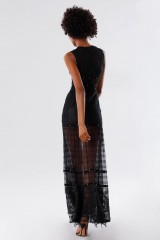 Drexcode - Black lace dress with studs and transparencies - Kathy Heyndels - Rent - 5