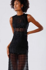 Drexcode - Black lace dress with studs and transparencies - Kathy Heyndels - Sale - 6