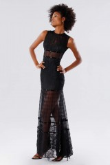 Drexcode - Black lace dress with studs and transparencies - Kathy Heyndels - Rent - 8