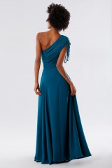 Drexcode - Dark teal dress with applications - Kathy Heyndels - Rent - 3