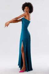 Drexcode - Dark teal dress with applications - Kathy Heyndels - Rent - 4