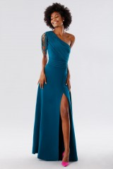 Drexcode - Dark teal dress with applications - Kathy Heyndels - Rent - 6