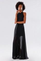 Drexcode - Black dress with neck tie - Kathy Heyndels - Rent - 1