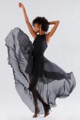 Drexcode - Black dress with neck tie - Kathy Heyndels - Rent - 2