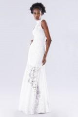 Drexcode - White high neck lace dress - Kathy Heyndels - Rent - 1