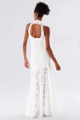 Drexcode - White high neck lace dress - Kathy Heyndels - Rent - 6