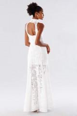 Drexcode - White high neck lace dress - Kathy Heyndels - Rent - 5