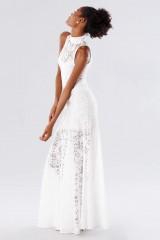 Drexcode - White high neck lace dress - Kathy Heyndels - Rent - 4