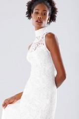 Drexcode - White high neck lace dress - Kathy Heyndels - Rent - 3
