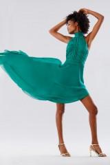 Drexcode - Green asymmetrical backless dress  - Kathy Heyndels - Rent - 5