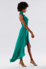 Drexcode - Green asymmetrical backless dress - Kathy Heyndels - Sale - 3