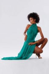Drexcode - Green asymmetrical backless dress  - Kathy Heyndels - Rent - 6