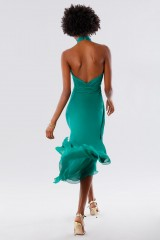 Drexcode - Green asymmetrical backless dress - Kathy Heyndels - Sale - 8