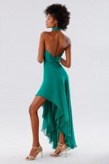 Drexcode - Green asymmetrical backless dress  - Kathy Heyndels - Rent - 9