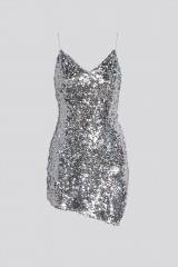 Drexcode - Short sequined dress with high slit - For Love and Lemons - Rent - 6