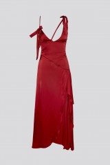 Drexcode - Red dress with appliqué bows and deep necklines - For Love and Lemons - Rent - 9