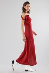 Drexcode - Red dress with appliqué bows and deep necklines - For Love and Lemons - Rent - 1