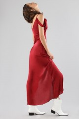 Drexcode - Red dress with appliqué bows and deep necklines - For Love and Lemons - Rent - 6