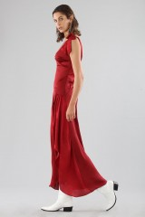 Drexcode - Red dress with appliqué bows and deep necklines - For Love and Lemons - Rent - 2