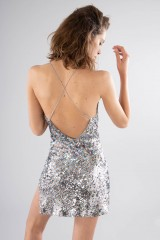 Drexcode - Short sequined dress with high slit - For Love and Lemons - Rent - 1
