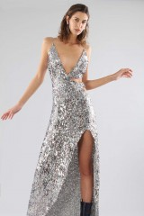 Drexcode - Long sequined dress with side cut-outs - For Love and Lemons - Rent - 4