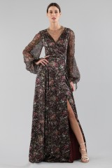 Drexcode - Long wrap dress with floral pattern - Luisa Beccaria - Rent - 3