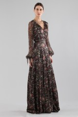 Drexcode - Long wrap dress with floral pattern - Luisa Beccaria - Rent - 4