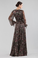 Drexcode - Long wrap dress with floral pattern - Luisa Beccaria - Rent - 5