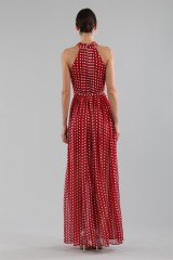 Drexcode - Polka-dot dress with wrap cross lacing at the neck - ML - Monique Lhuillier - Sale - 4